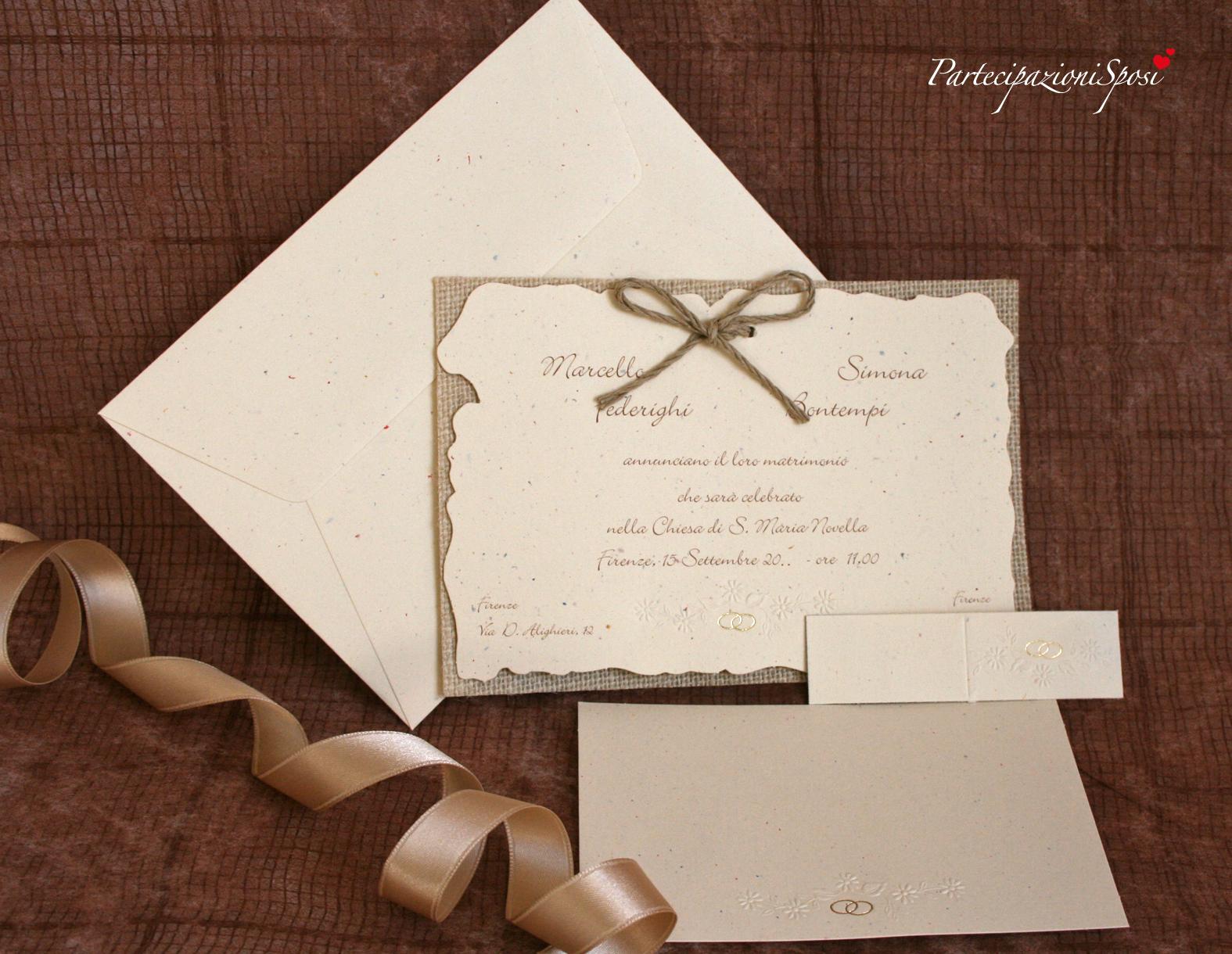 Shabby Chic Matrimonio Partecipazioni.Art 014 Partecipazioni Sposi Stampa Partecipazioni Matrimonio