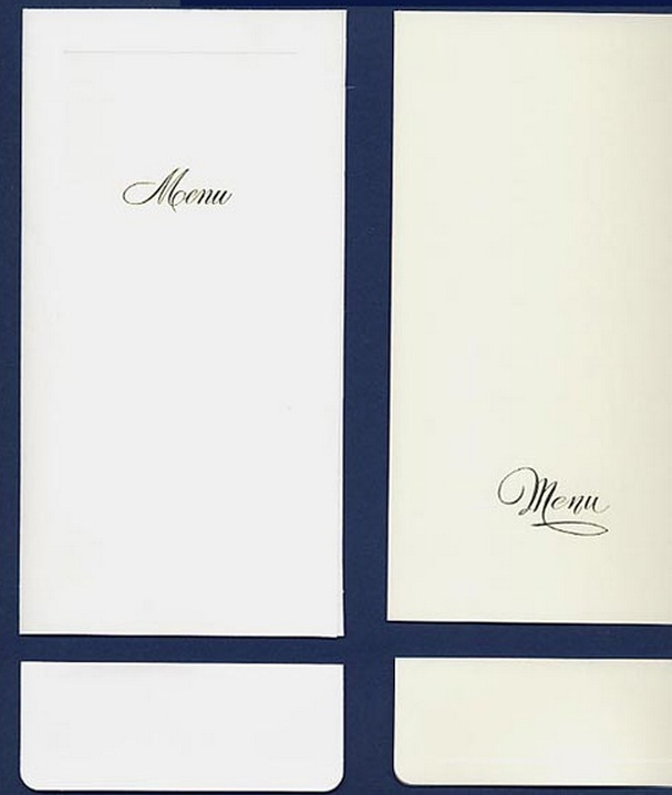 stampare menu matrimonio