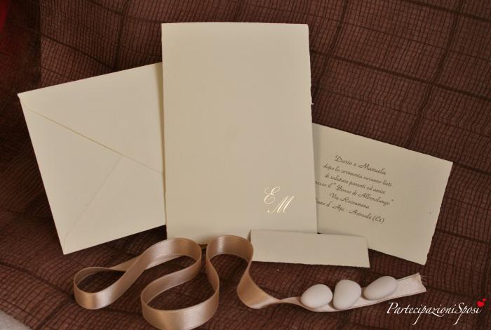 Partecipazioni di matrimonio eleganti raffinatezza e for Partecipazioni nozze on line
