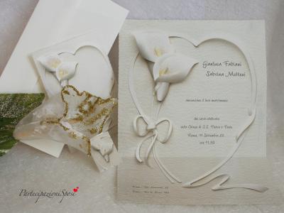 Partecipazioni Matrimonio Romantiche.Art 031